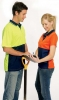 Unisex Polo Shirt Ribbed Style Collar With Twin Trim