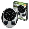 Weather Station Wall Clock with Thermometer